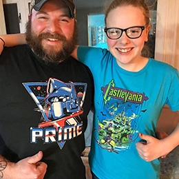 Unboxers with exclusive Optimus Prime and Castlevania shirts