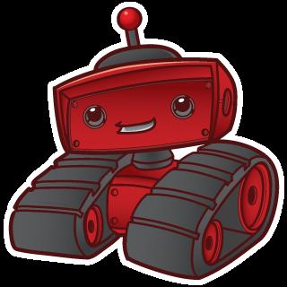 geek fuel robot mascot'